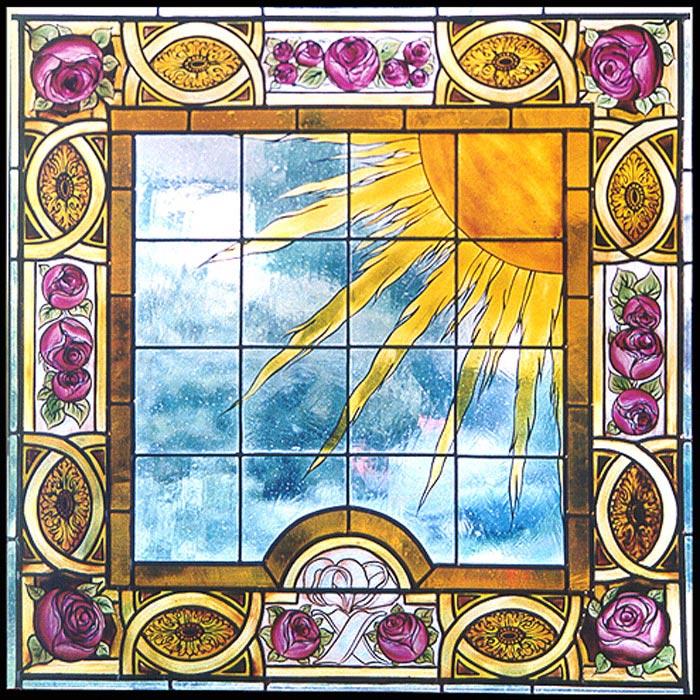 Fenster Sonne | Entwurf um 1900